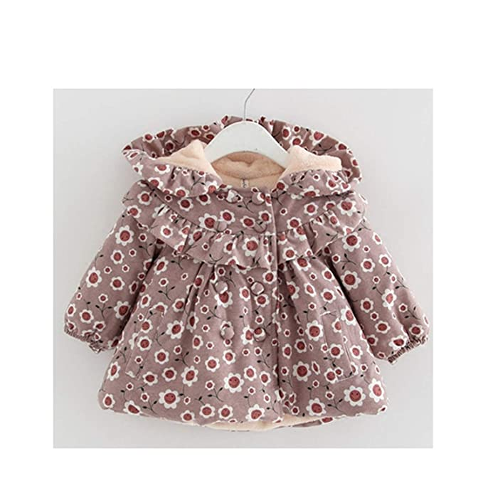 016e1cb66d34 Amazon.com  Girls Coat Winter Newborn Children Plus Velvet Cotton ...