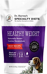 Dr. Harvey's Specialty Diet Healthy Weight Beef Recipe, Human Grade Dehydrated Dog Food with Beef