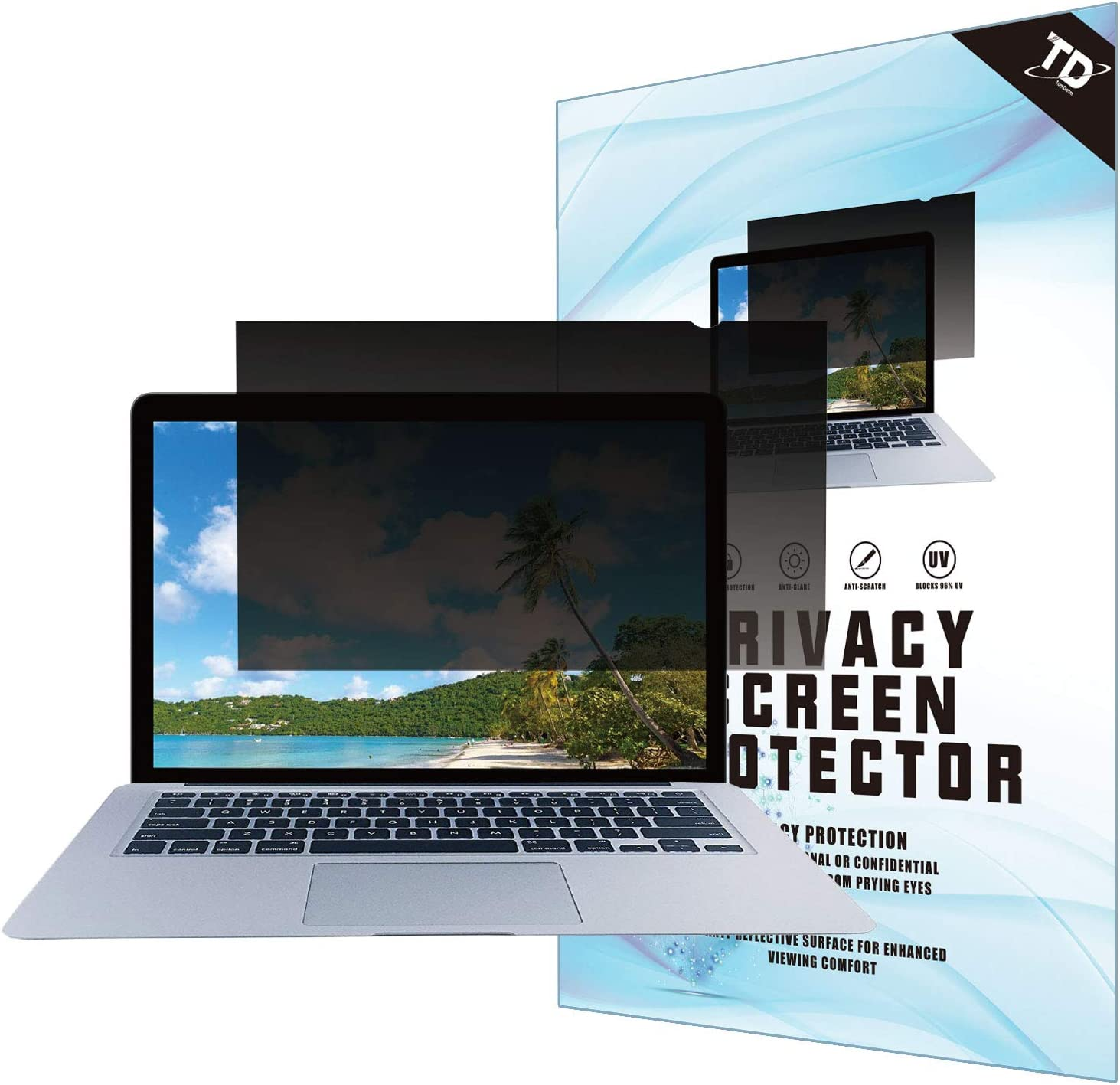 16''W Inch Privacy Screen Filter for Widescreen Laptop - Anti-Glare, Blocks 96% UV,Anti-Scratch with 16:9 Aspect Ratio