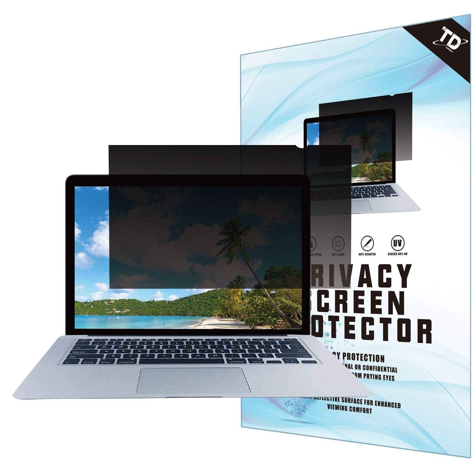 13.3''W Inch Privacy Screen Filter for Widescreen Laptop - Anti-Glare, Blocks 96% UV,Anti-Scratch with 16:9 Aspect Ratio