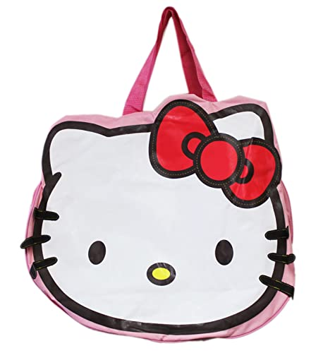 bc1198d03 Image Unavailable. Image not available for. Color: Hello Kitty Die-Cut Head  Shaped Travel Tote Bag