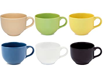 Oxford Biona Jumbo Mugs (Set of 6)- Assorted Colors by Oxford
