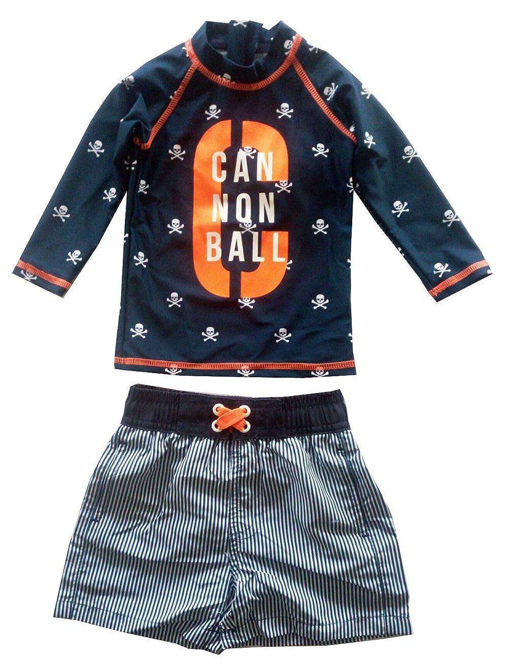 Baby Little Boys Rash Guard Set Swimwear Long Sleeve Swimsuit UP50+