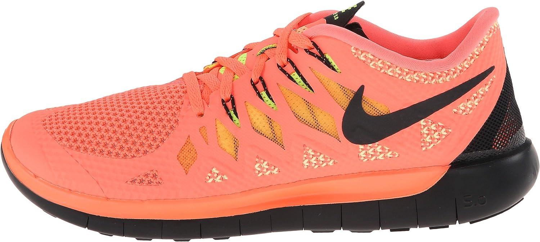 Nike Free 5.0, Chaussures de Running Femme Bright Mango Volt Peach Cream Black