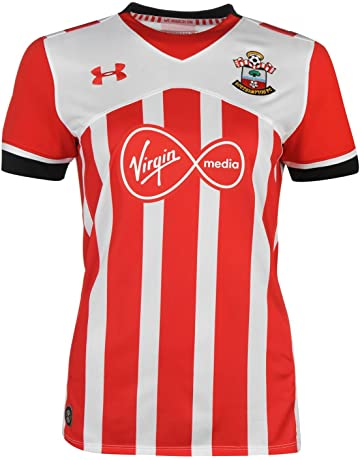 Under Armour Southampton FC Saints women s red white home football shirt  2016-17 13a959793