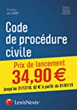 Code de procédure civile 2019: Prix de lancement jusqu'au 31/12/2018, 62.00 ¤ à compter du 01/01/2019