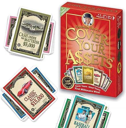 EUS Cubra Sus Activos Juego De Cartas Divertido Juego Familiar Juego De Recolección Juego De Estrategia Clásico Juegos De Mesa para Adolescentes Y Niños,Ideal para 2-8 Jugadores Mayores De 7 Años: Amazon.es: