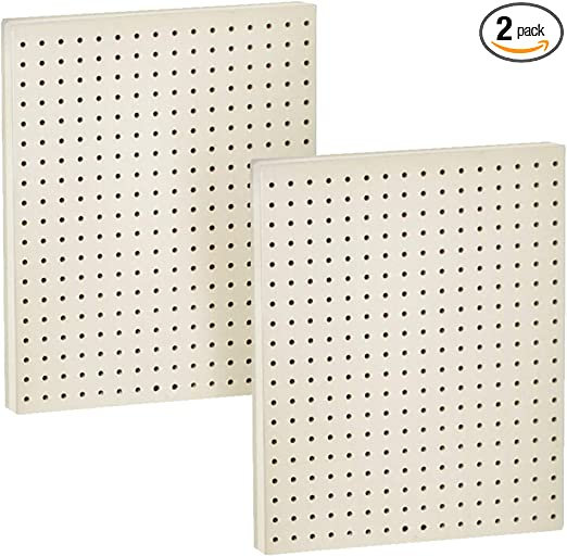 Amazon Com Azar Displays 771620 Wht Plastic Pegboard For Wall Organization Garage Tool Organizer Wall Mount Pack Of 2 1 Sided Durable Wall Panel Organizer 16 W X 20 H X 1 D