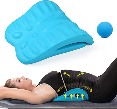 Back Stretcher for Back Pain Relief, Back Stretching Cushion, Chronic Lumbar Support Helps with Spinal Stenosis, Herniated Disc and Sciatica Nerve Pain Relief