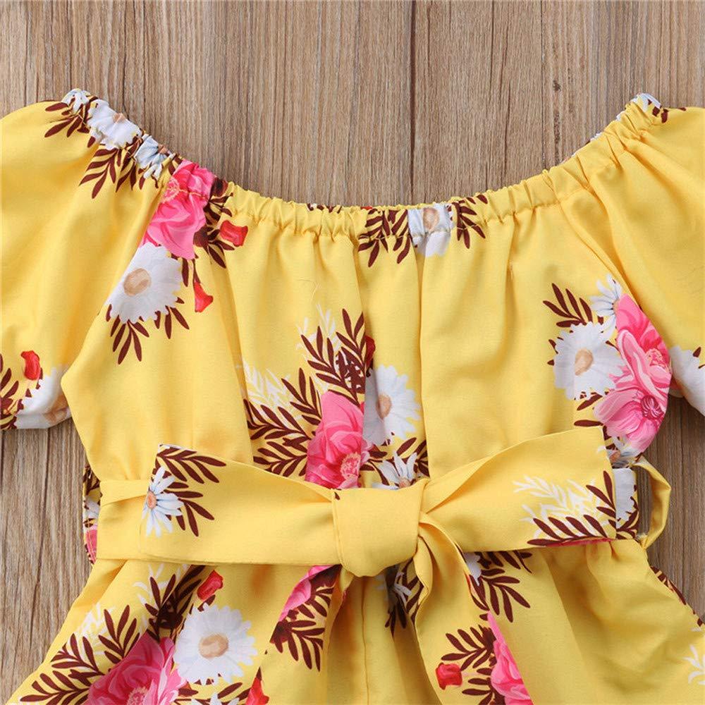 Recien Nacido Ni/ña 12 Meses a 4 A/ños Ropa de Bebe ni/ña Mono Manga Cortas de Rayas Estampado Floral Verano Pijamas Bebe ni/ña Original Body Bebe FELZ Counjunto de Ropa beb/é ni/ña Verano
