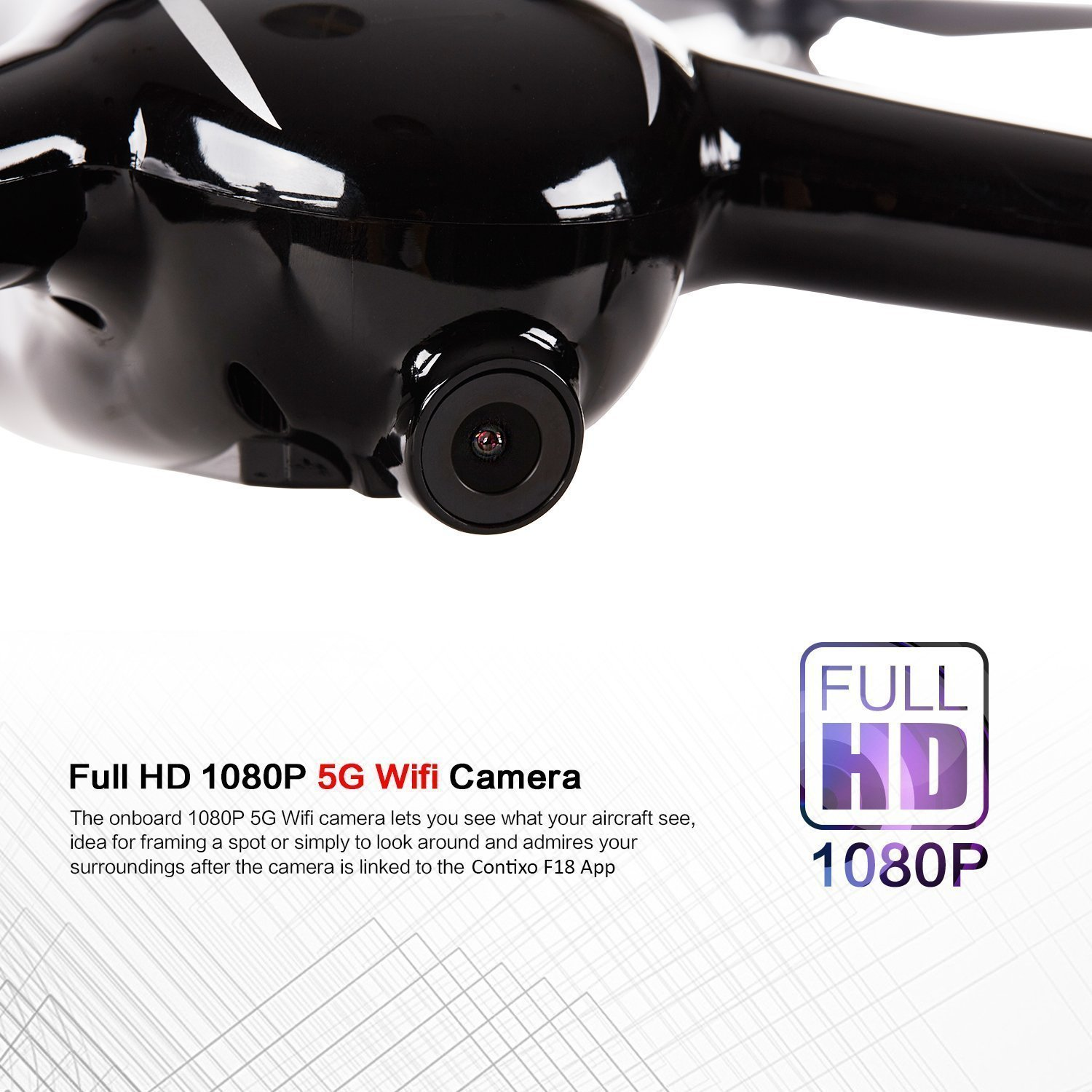 Holiday Special! Contixo F18 Advanced GPS Assisted RC Quadcopter 1080P HD Live FPV 5GHz Wifi Video Camera Drone Smart RTH Hovering Brushless Motors-Carrying Back Pack $50 Value Best Gift For Christmas by Contixo (Image #4)