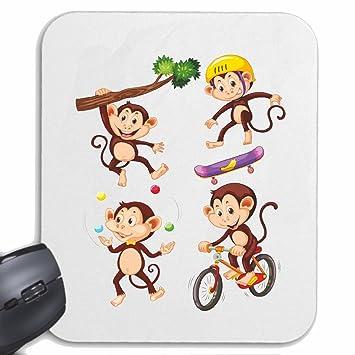 Mousepad alfombrilla de ratón CHIMPANCÉ MONTAR TABLAS DE BICICLETA DEL ÁRBOL DE MONO Chimpancé del GORILA ...