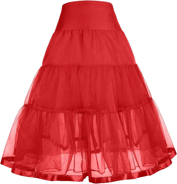GRACE KARIN Little Girl Voile Crinoline Tutu Petticoats Long//Short