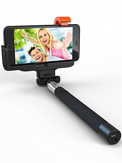 best service a5056 e33f7 Premium 5-in-1 Bluetooth Selfie Stick for iPhone XR XS X 10 8 7 6 5,  Samsung Galaxy S10 S9 S8 S7 S6 S5 (Android 4.3+) - No Apps, No Downloads,  No ...