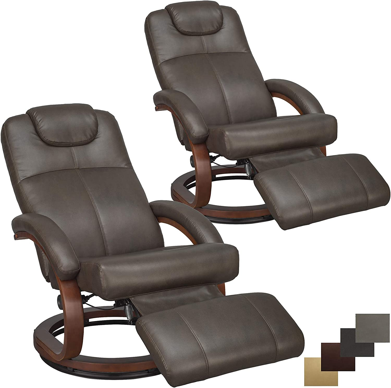 RecPro Charles 28 RV Euro Chair Recliner Modern Design RV Furniture 2, Chestnut