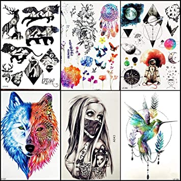 Tatuajes Temporales Diseño De Planetas Animales Tatuaje Temporal ...