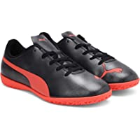 Puma Unisex's Rapido It Jr Black-nrgy Red Ag Football Shoe