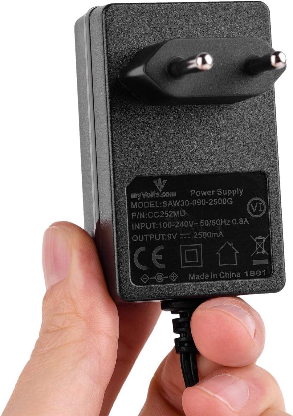 MyVolts Chargeur//Alimentation 9V Compatible avec Goodmans APX002A Transfo Prise fran/çaise Adaptateur Secteur