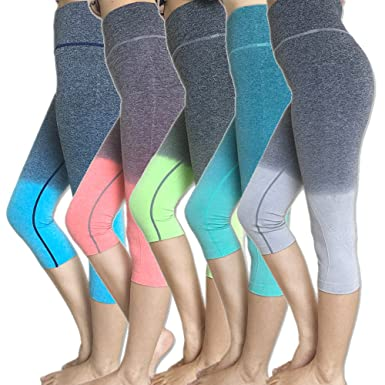 f99843caaf ADIM Global Capri Cropped Women Leggings Pants for Yoga Gym Fitness Workout  Wear Assorted Color/Size Wholesale Lot (10 Pieces) at Amazon Women's  Clothing ...