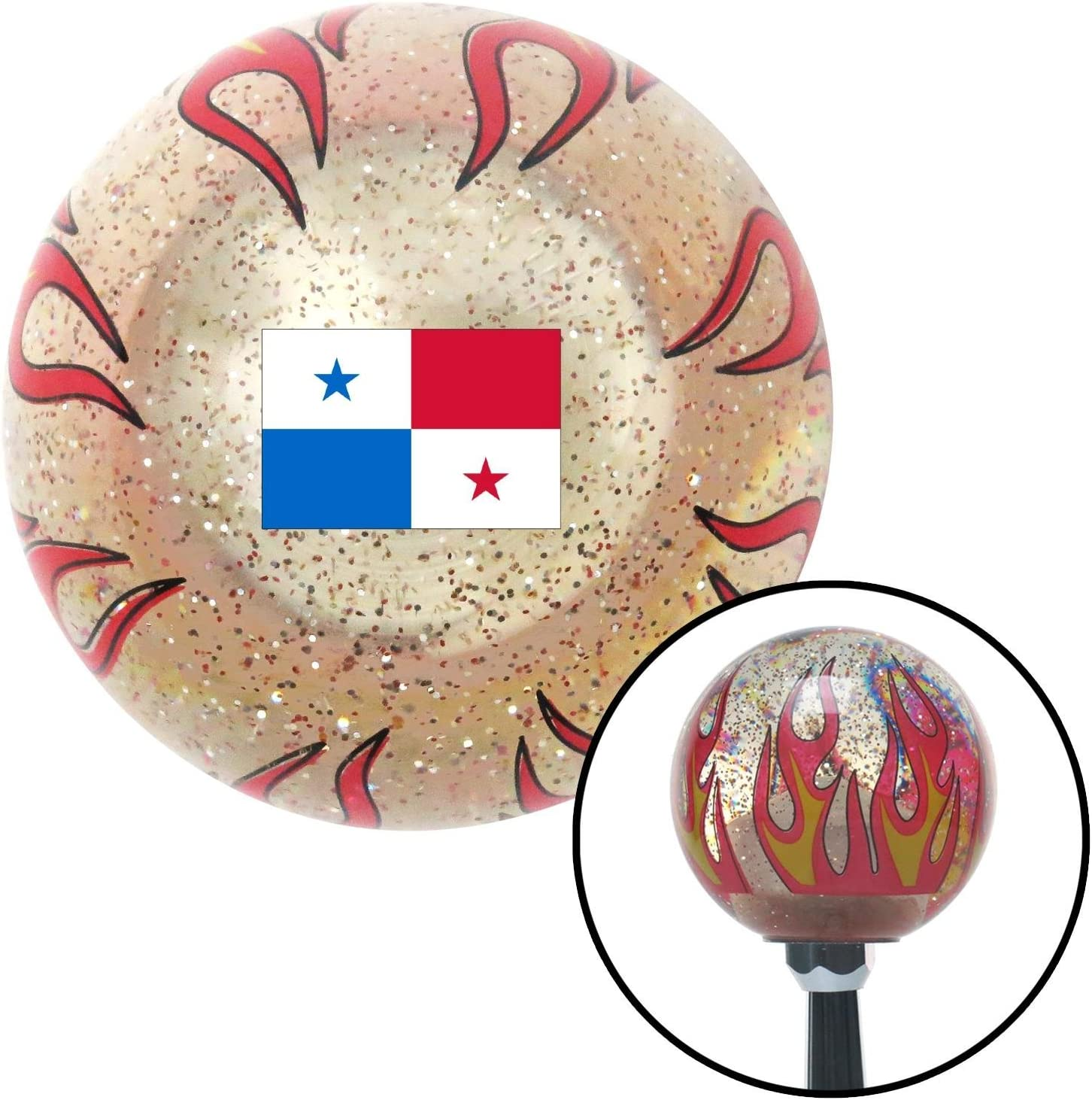 American Shifter 309851 Shift Knob Fla 67% OFF of fixed price Panama Flame Clear Metal Large-scale sale