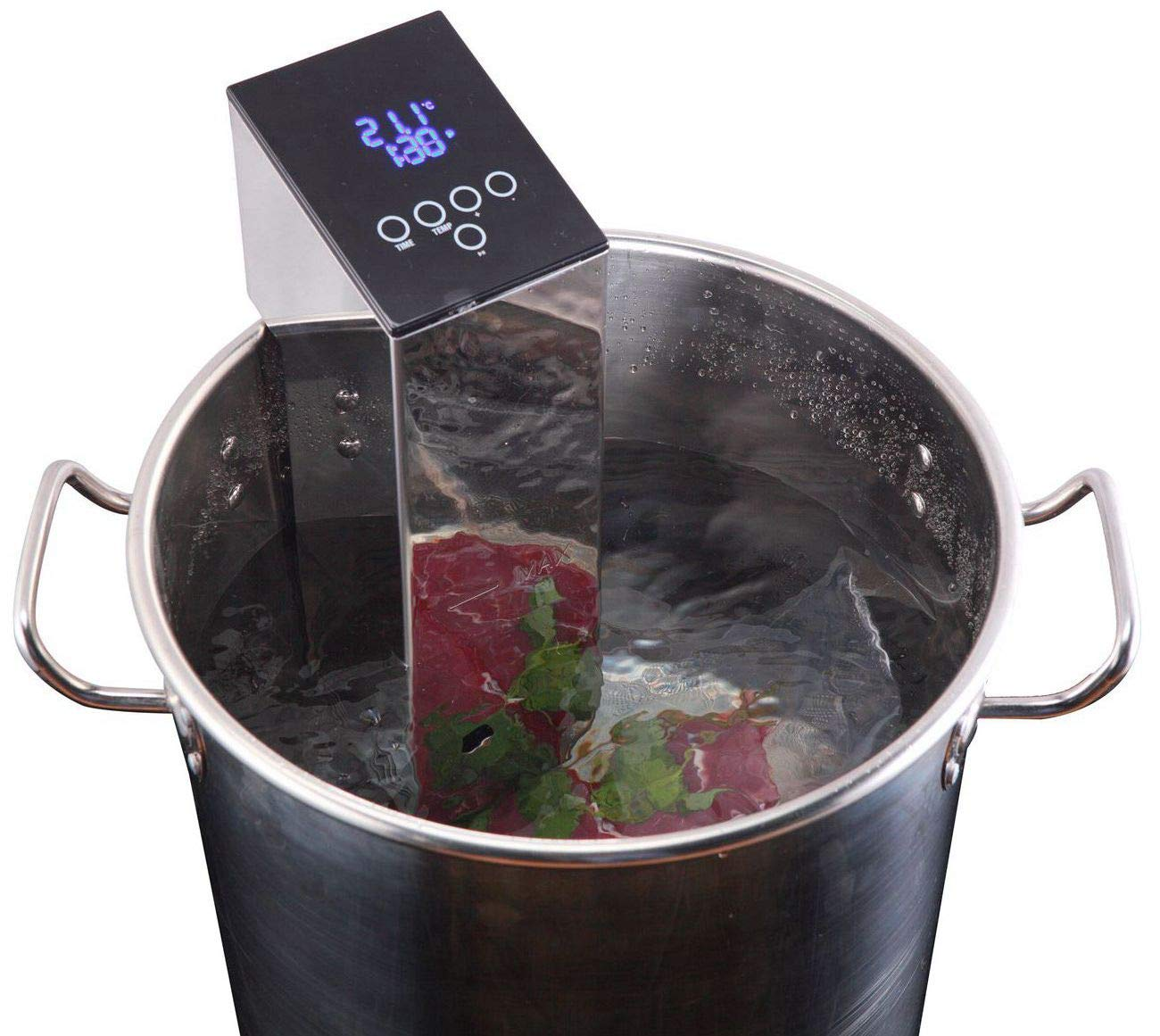 TINVOO Sous Vide Cooker,1100 Watts Thermal Immersion Circulator, Sous Vide Machine for Built-in Patented H-B-C system w/Accurate Temperature Control, Programmable Digital Touch Screen, Chef Series Fo