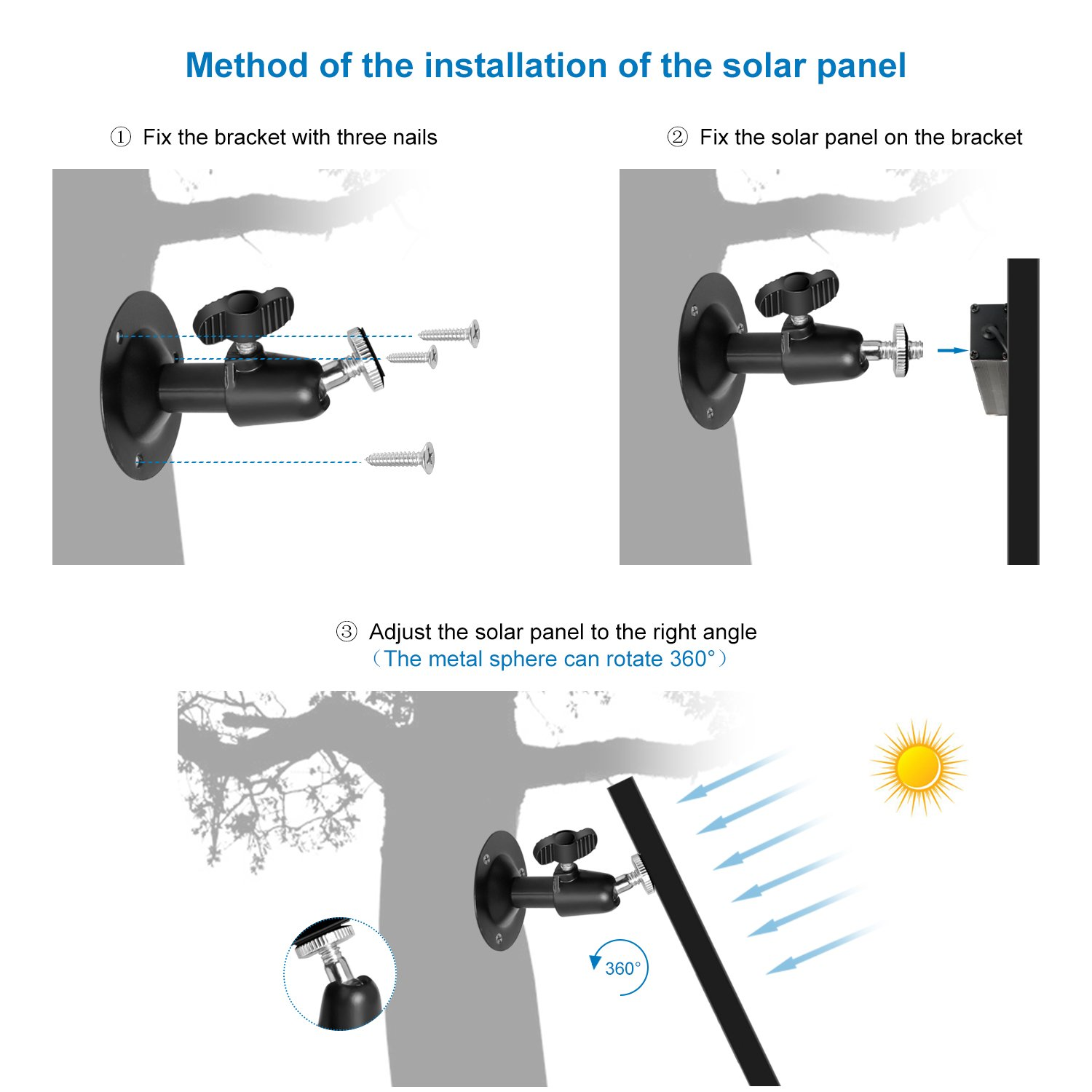 Olymbros Solar Panel 5.5W 12 Volt Pv Solar Module,Solar Cell Panel Power Your Outdoor Camera Ccontinuously