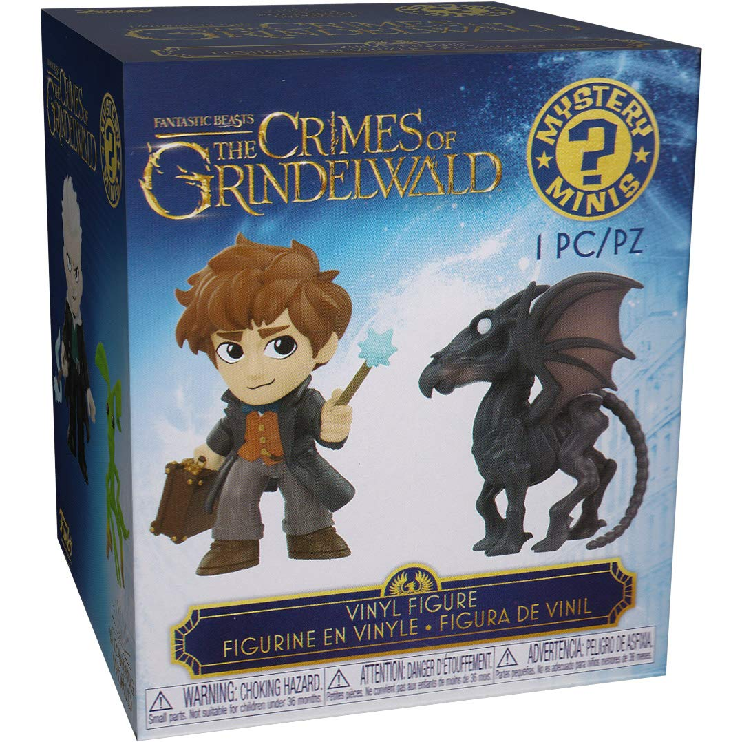 32781 - B Rare The Crimes of Grindelwald x Mystery Minis Mini Vinyl Figure with Compatible PET Plastic Graphical Protector Bundle Funko Black Black Baby w// Sapphire: Fantastic Beasts