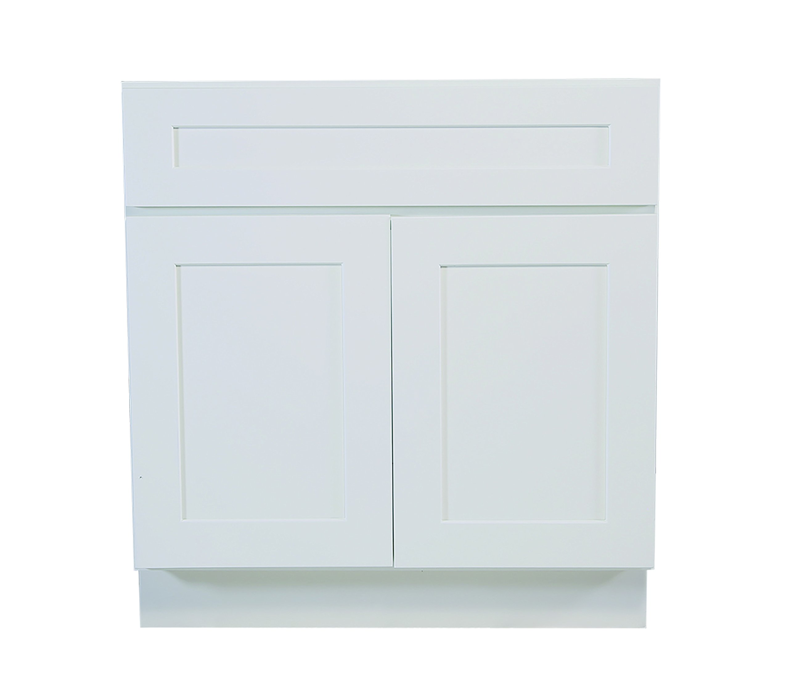 Design House 561506 Brookings 42-Inch Sink Base Cabinet, White Shaker by Design House
