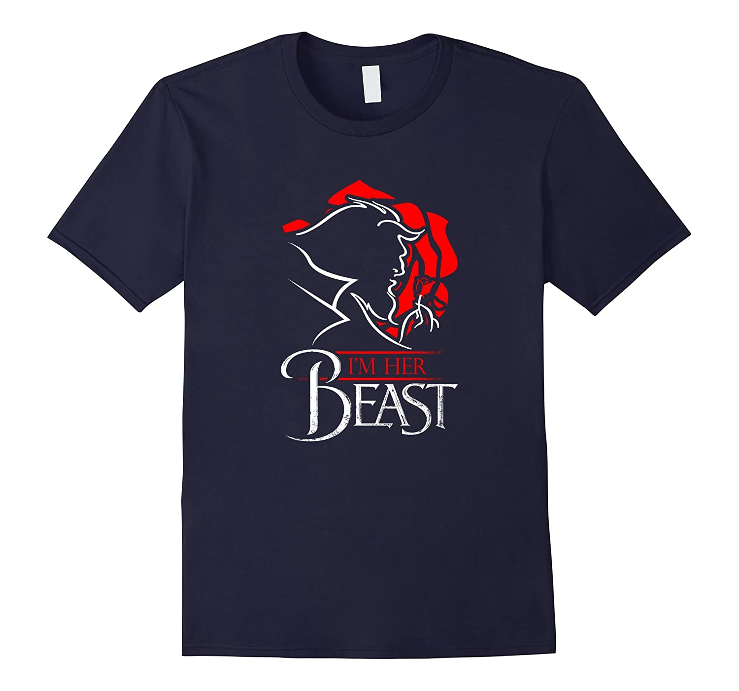 Im Her Beast Rose T-Shirt Tee Im His Beauty Matching Shirt-CD