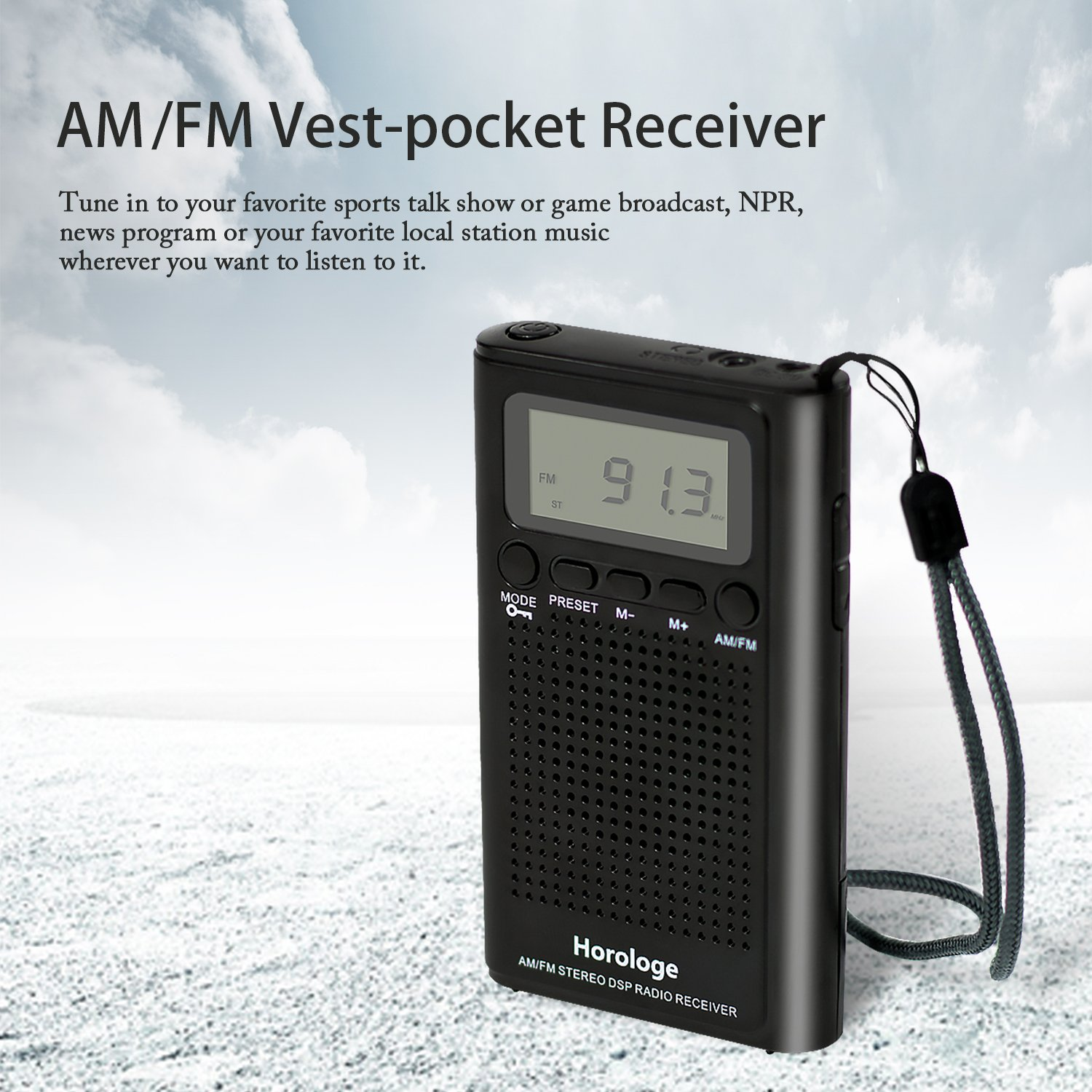Horologe AM FM Pocket Radio