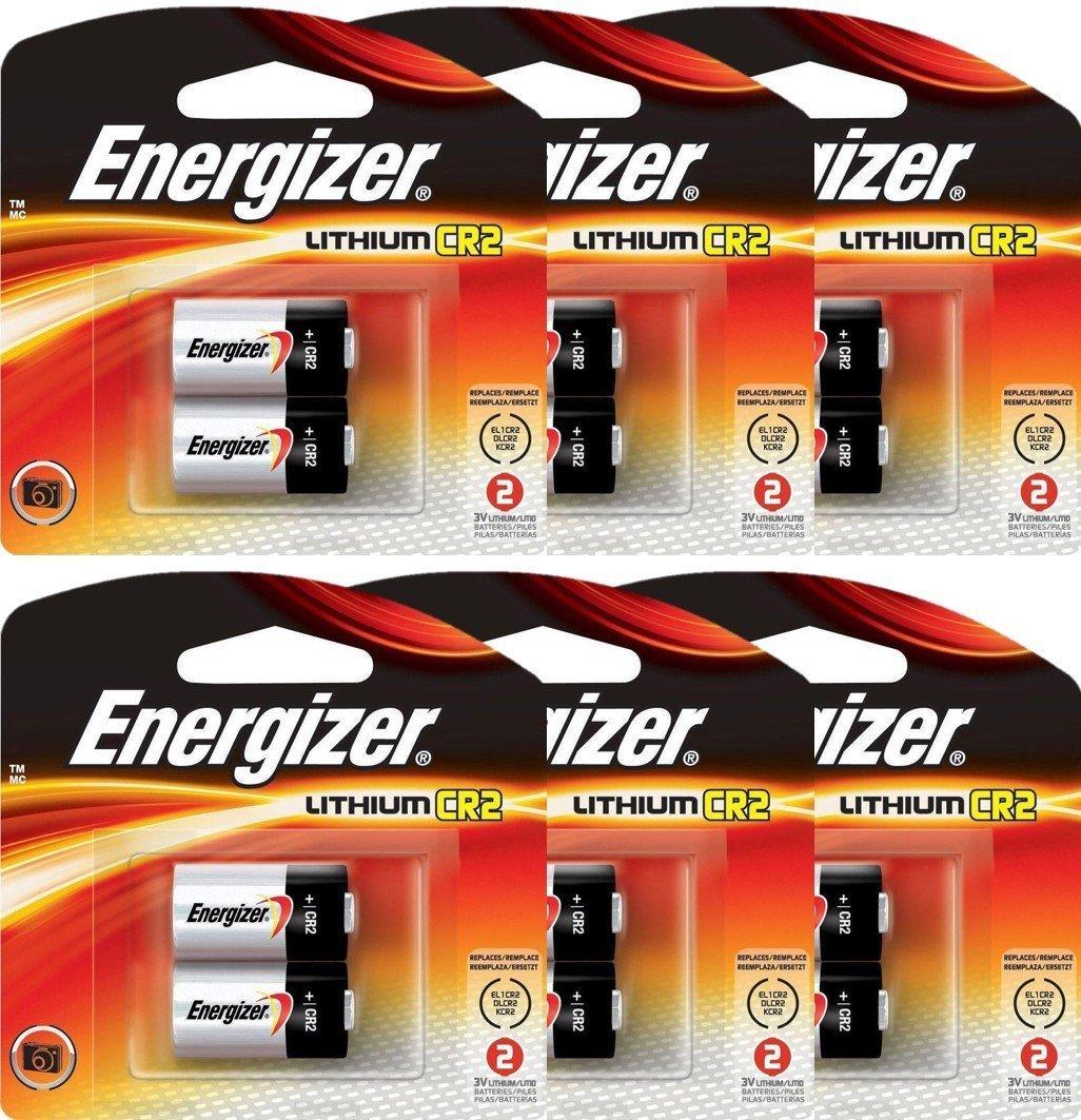 12 Energizer CR2 3-Volt 3V Lithium Photo Batteries (6x2)