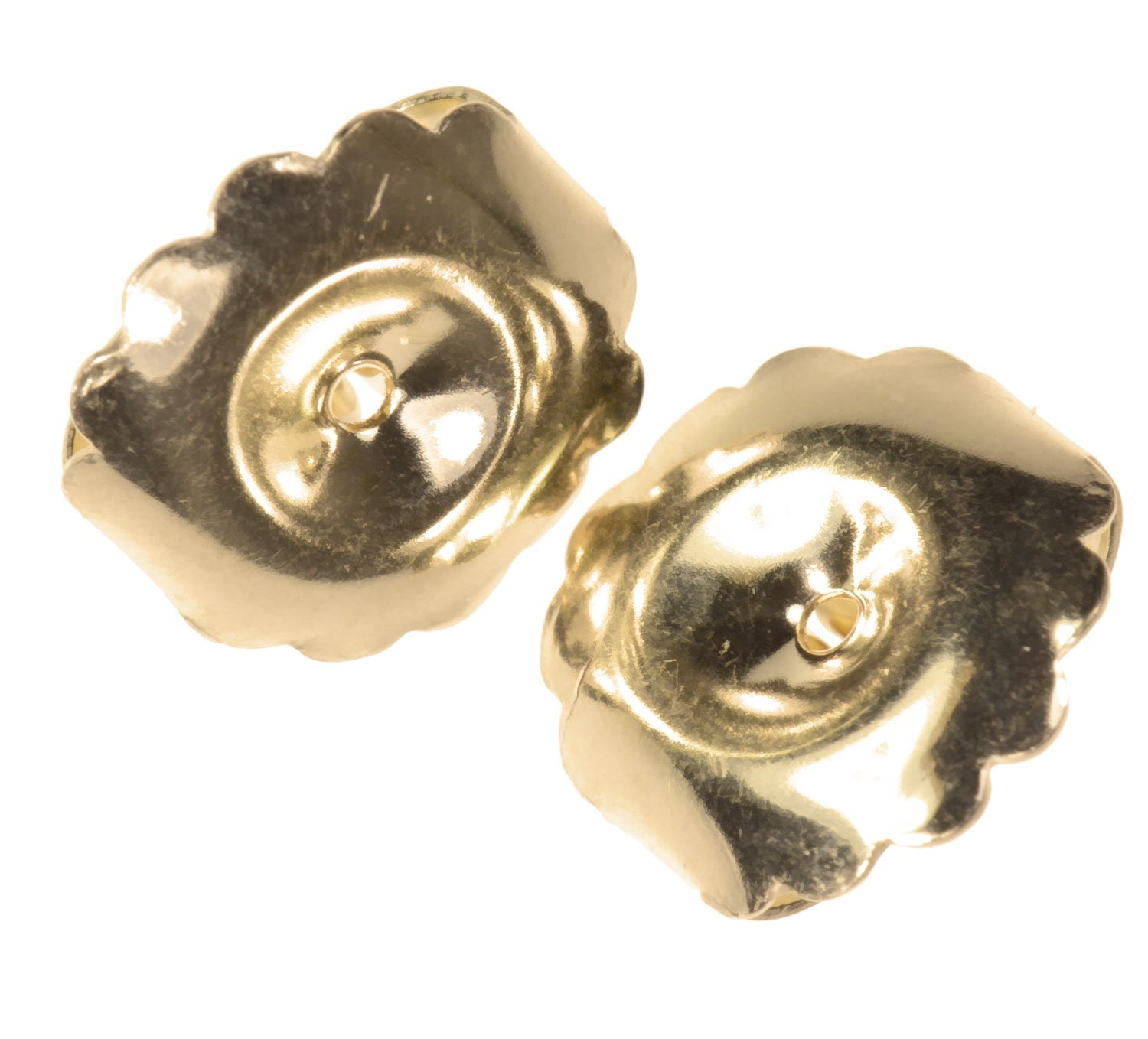 Solid 14K Gold Jumbo Earring Back Premium Extra-Jumbo Swirl 10mm 1-Pair by uGems (Image #1)