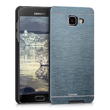 kwmobile Funda para Samsung Galaxy A5 (2016) - Carcasa Protectora de [Aluminio] para móvil - Case [Trasero] [Antracita]