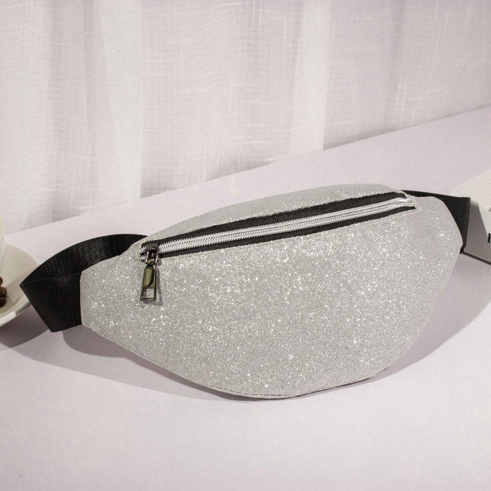 Danhjin Men Women Fashion Zipper Closure Bling Sequins Shoulder Phone Bag Messenger Bag Chest Bag by Danhjin (Image #2)