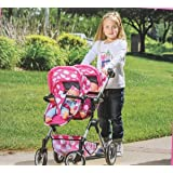 Lissi Doll Double Stroller FITS 2 Dolls UP to 18