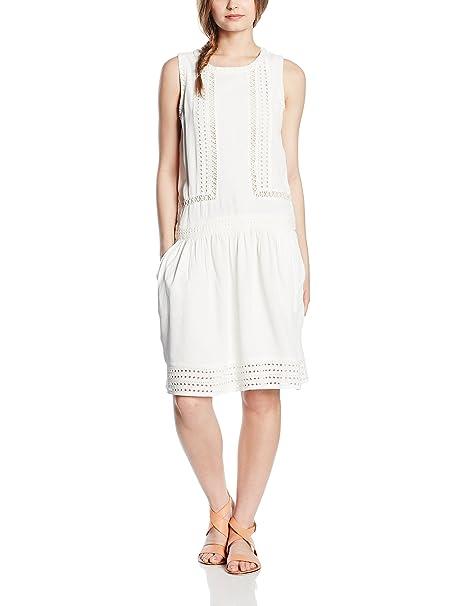 Cortefiel VESTIDO DETALLES BORDADOS - Vestido para mujer, color blanco, ...