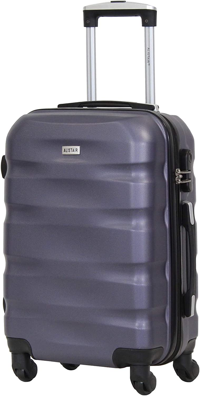 Alistair Fly - Maleta de cabina de 55 cm - Abs ultraligera - Marca francesa, negro/morado (Morado) - 1507 -S- Black/Purple