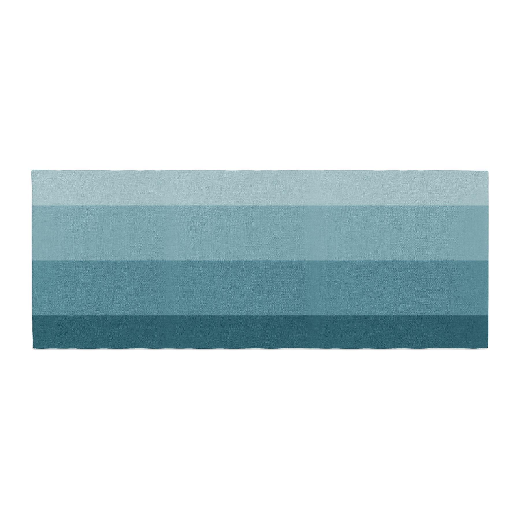 Kess InHouse Trebam Cijan Navy Teal Bed Runner, 34'' x 86''