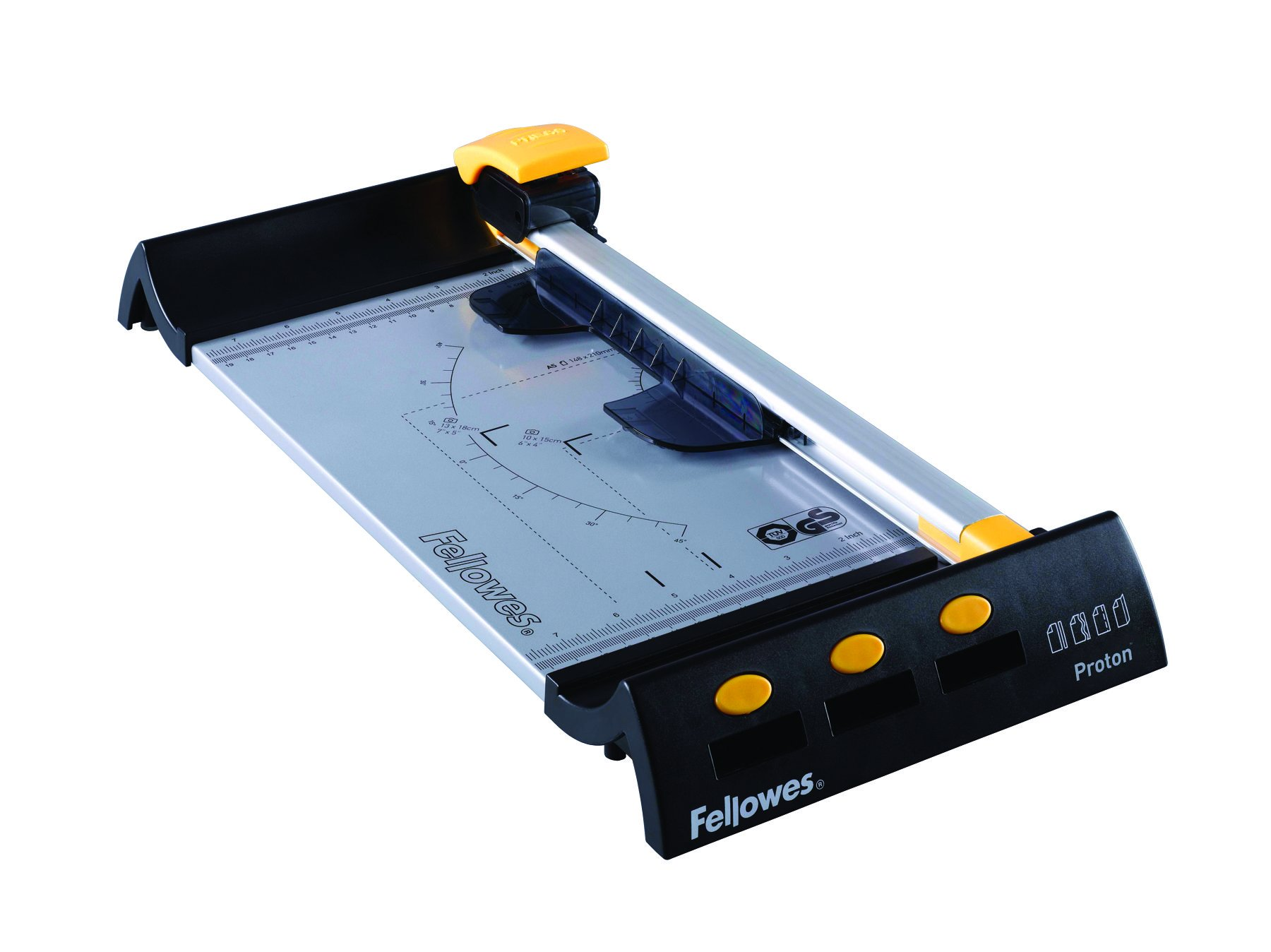 Fellowes Proton 5410201 Trimmer - 1 x Blade(s) - Cuts 10Sheet - 380 mm Cutting Length - Metal Base by Fellowes