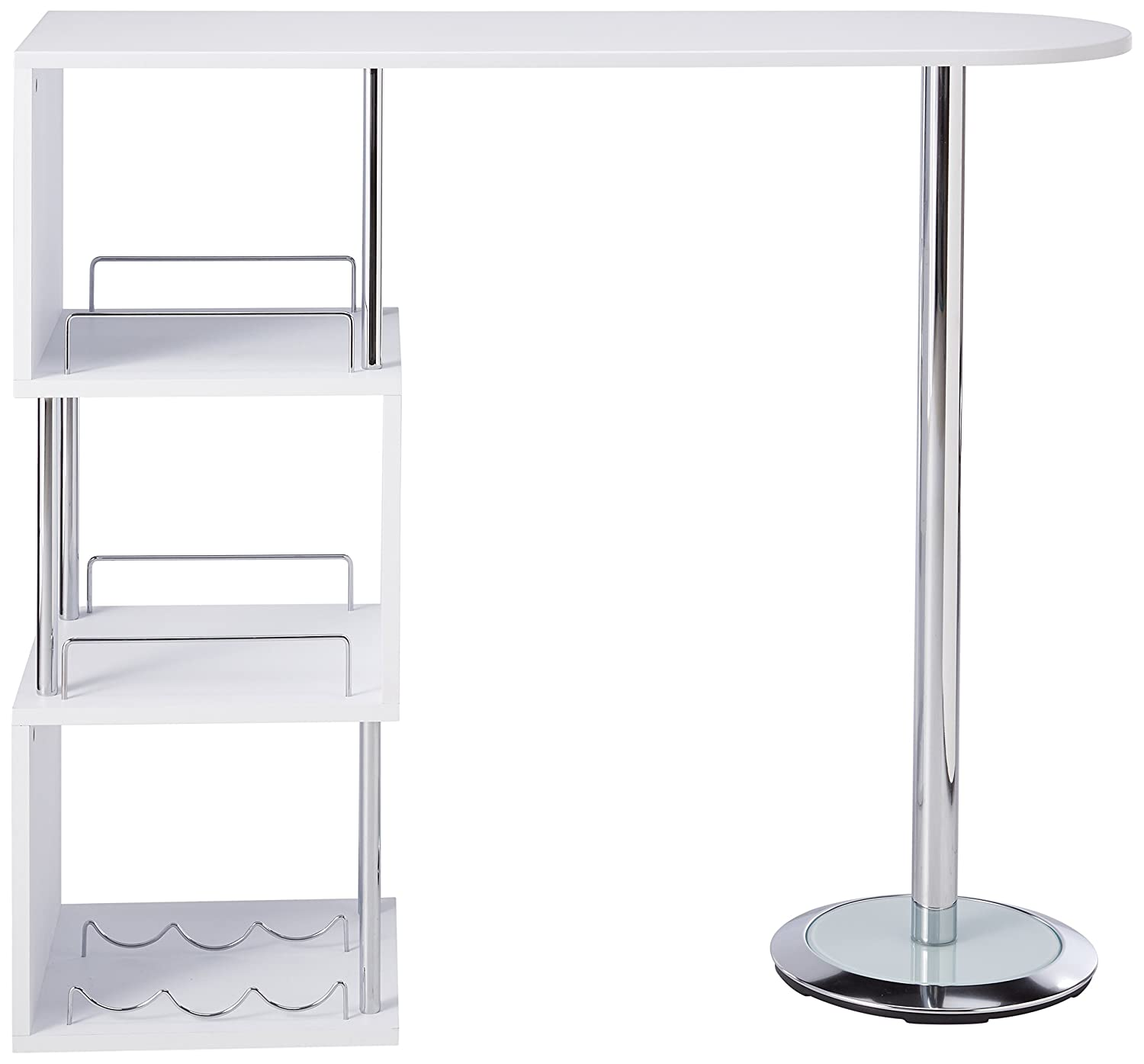 Amazon Kings Brand Furniture Bar Table with Storage Shelves