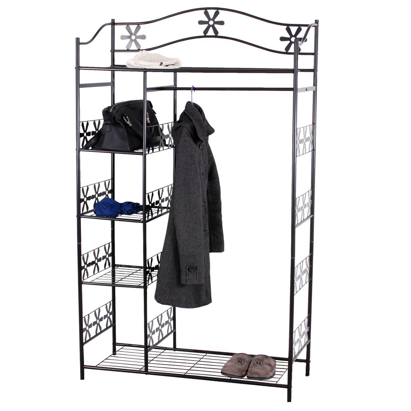 Regalsystem kleiderschrank mit vorhang  Metall-Garderobe Genf, Garderobenständer Kleiderschrank ...
