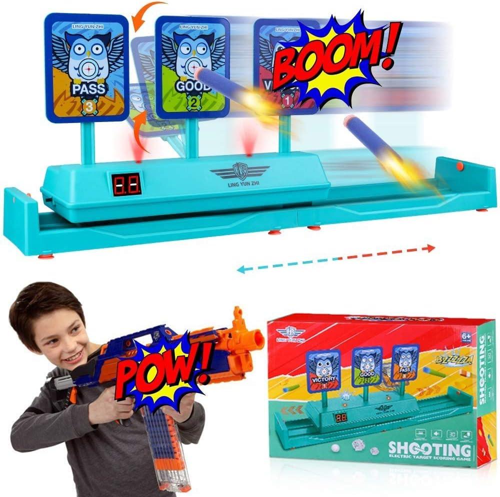 OFUN Móvil Objetivo Digital electrónico para Nerf, Juguete Target con Restablecimiento Automático, Efectos Inteligentes de Sonido y Luz, para Nerf N-Strike Elite / Mega / Blaster / Rival Series /Guns