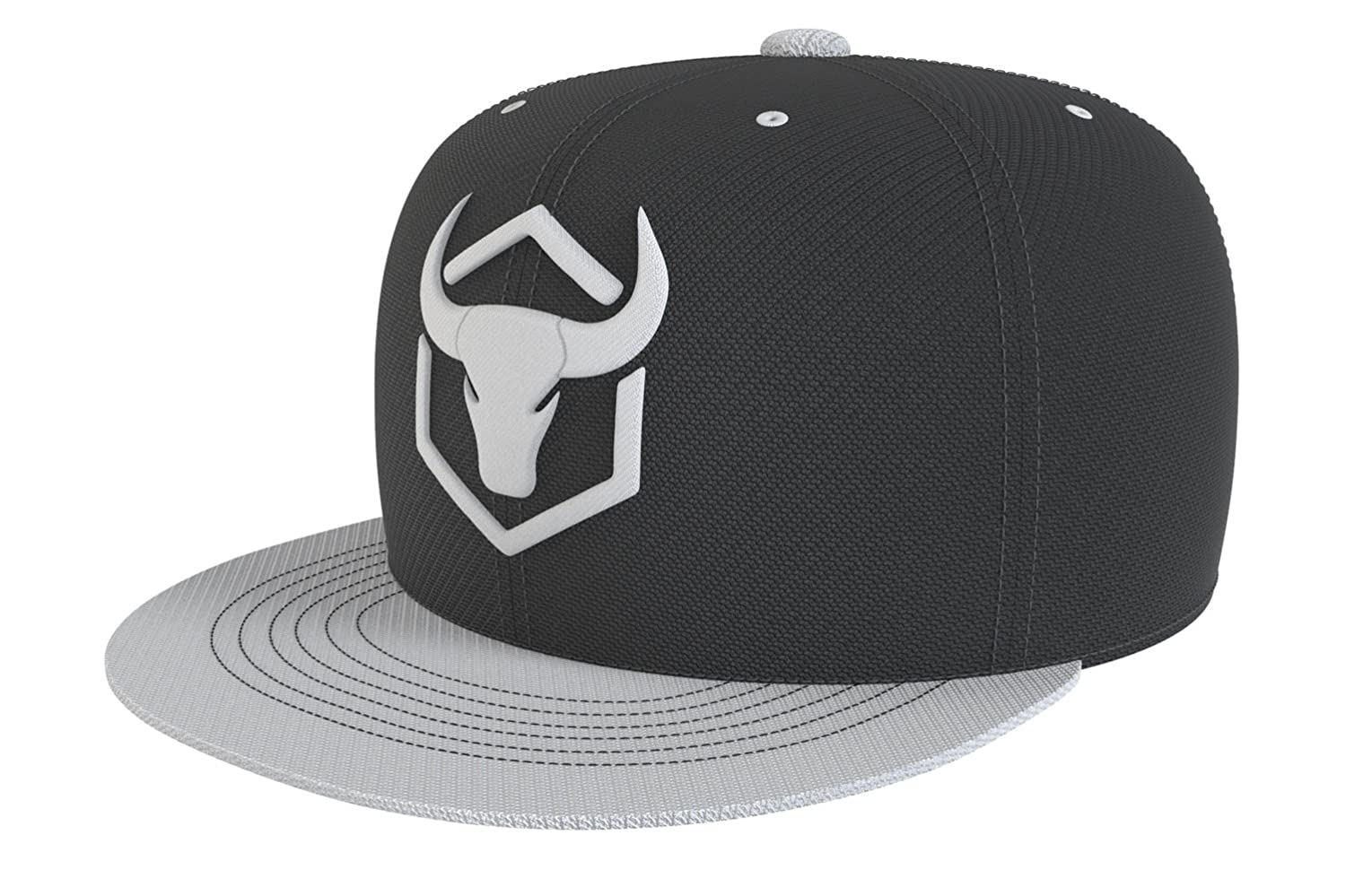Iron Bull Strength Snapback - Adjustable Hat - Flat Bill Baseball Cap Snap Hats (Army Green) at Amazon Mens Clothing store: