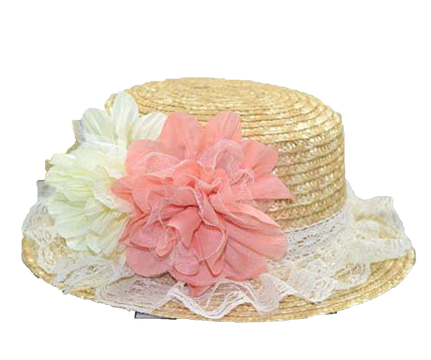 619fe5a46 Summer Lace Flower Dome Straw Hat Edge Wheat Straw Sun Hat Hat, Lace ...