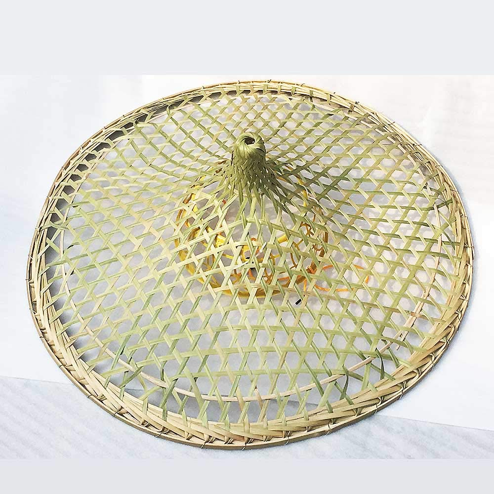 3c245c6c7e791b Sunnyhill Chinese Oriental Bamboo Straw Cone Garden Fishing Hat Adult Rice  Hat Sunny Hill Sports & Fitness