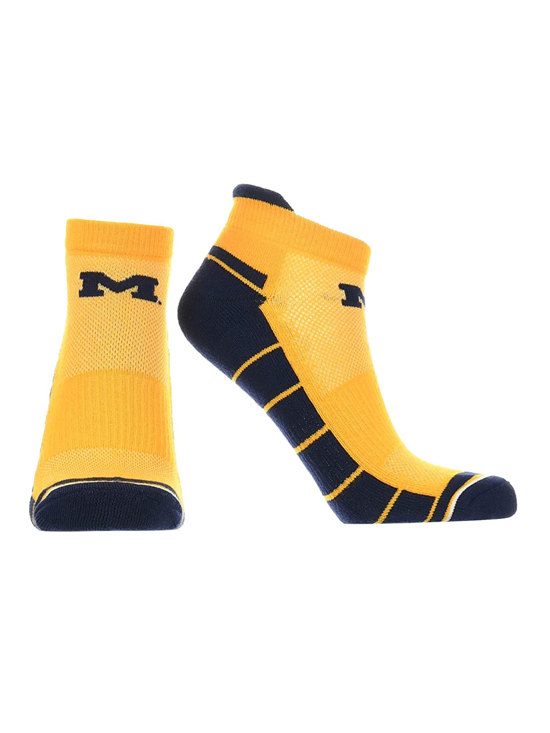 Michigan Wolverines Low Cut Ankle Socks with Tab