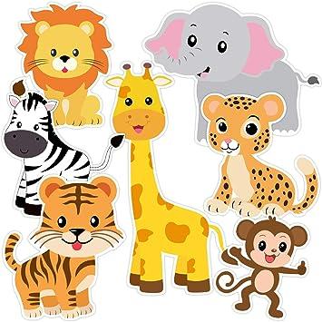 Amazon.com: Zoo Animals recortes Safari Jungle recortes para ...