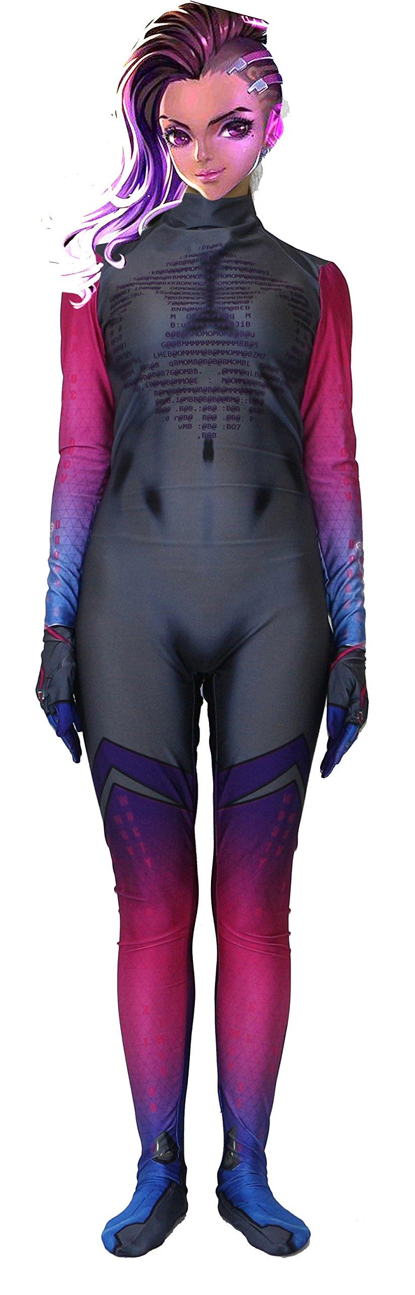 - 71y8EU8D55L - Riekinc Lycra Bodysuit Womens Suit Cosplay Costume Audlt/Kids