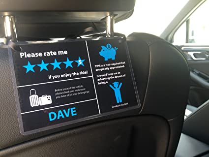 Set Of 2 Uber Lyft 5 Star Ratings Sign
