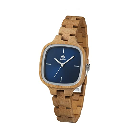 Reloj de madera ZEITHOLZ - Rosswein - 100% de Madera de Bambú - Producto Natural